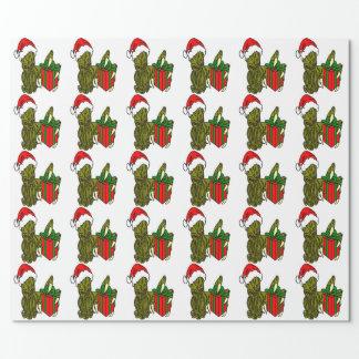 Santa Cthulhu Wrapping Paper