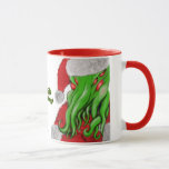 Santa Cthulhu Yuletide Greetings mug