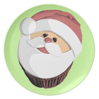 Santa cupcake plate