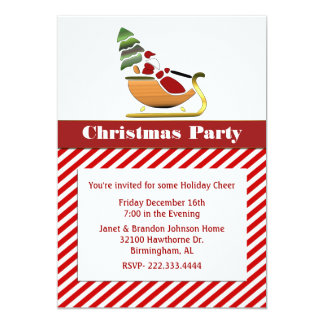 Santa Custom Christmas Party Invitation