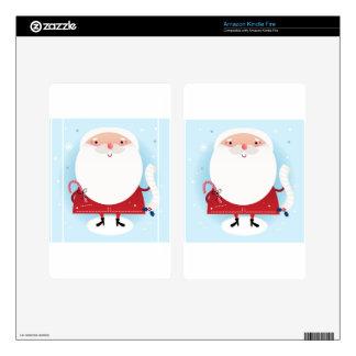 Santa cute hand-drawn Illustration Kindle Fire Decals