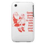 Santa da más a los niños ricos Case-Mate iPhone 3 funda