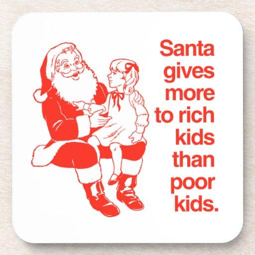 Santa da más a los niños ricos posavaso