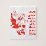 Santa da más a los niños ricos rompecabeza