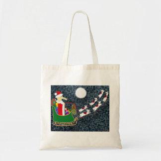 Santa Dachshund Bag