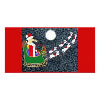 Santa Dachshund Card