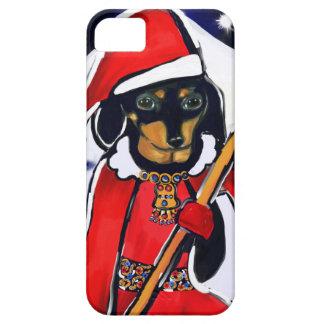 SANTA DACHSHUND iPhone SE/5/5s CASE