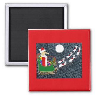 Santa Dachshund Magnet