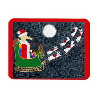Santa Dachshund Premium Magnet