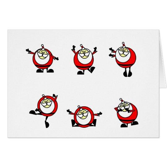 SANTA DANCING card