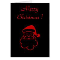 Santa Dark Xmas Card - Customized