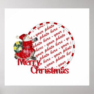 Santa, Dashing Through the Snow Photo Frame Posters