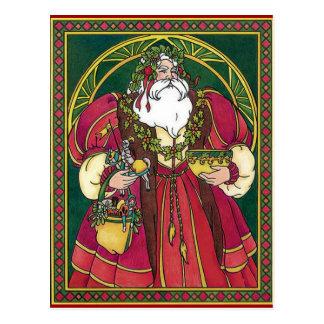 Santa de antaño tarjetas postales