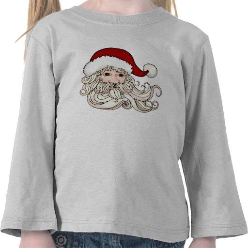 Santa de los niños hace frente a la camiseta del p