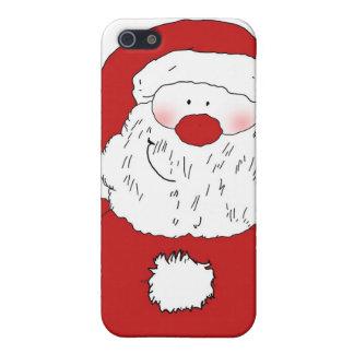 Santa de ruborización lindo iPhone 5 funda