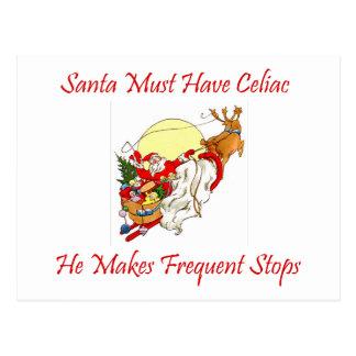 Santa debe tener celiaco - él hace paradas postal
