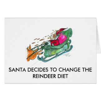 Santa Decides to Change the Reindeer Diet Card