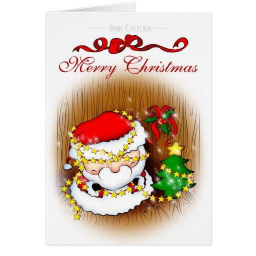 Santa Decorating Card
