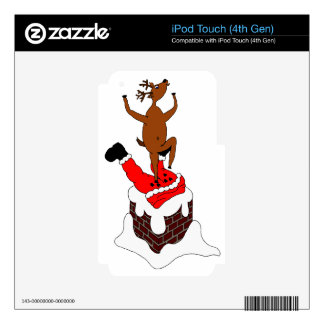 santa deer iPod touch 4G decal