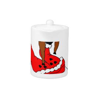 santa deer teapot
