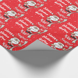 Santa Define Naughty or Nice | Christmas Wrapping Paper