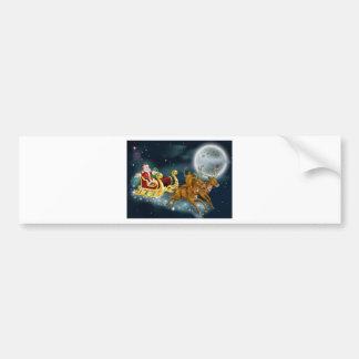 Santa Delivering Gifts on Christmas Eve Bumper Sticker