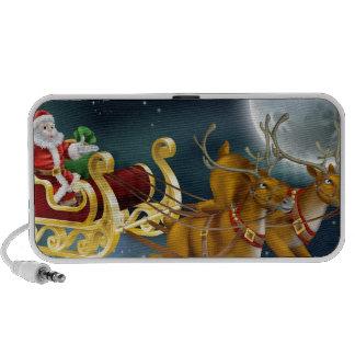Santa Delivering Gifts on Christmas Eve iPhone Speaker