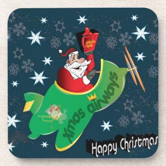 Santa delivering Presents Drink Coaster