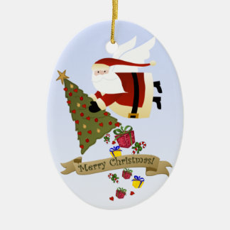 Santa Delivers Christmas Ornament