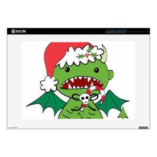 "Santa Devil with candy cane 15"" Laptop Skins"
