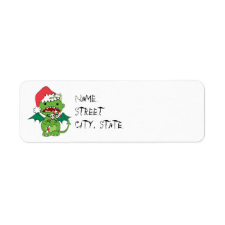 Santa Devil with candy cane Label