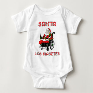 Santa Diabetes Baby Bodysuit