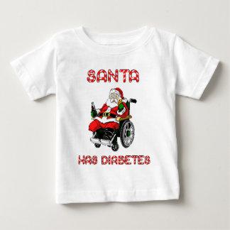 Santa Diabetes Baby T-Shirt