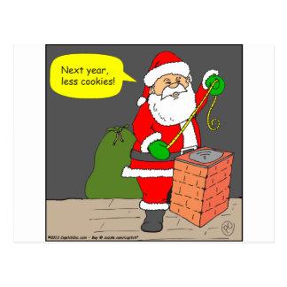 Santa dice el dibujo animado de menos galletas