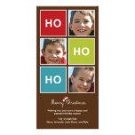 Santa dice - la tarjeta de la foto del navidad plantilla para tarjeta de foto