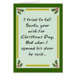 ¡Santa dice - salga! Tarjeton