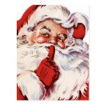 Santa dice Shhh Tarjetas Postales