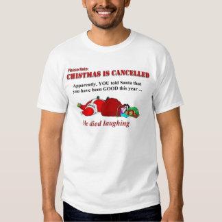 Santa died laughing T-Shirt