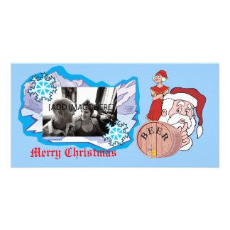 Santa disimulado disimulado, [añada la imagen] tarjeta fotográfica