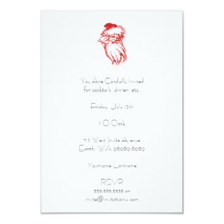Santa Distressed Faux Letterpress Style Card at Zazzle