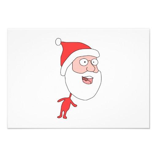 Santa. divertido anuncio