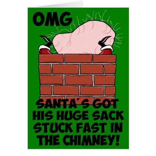 Santa divertido, grosero felicitacion