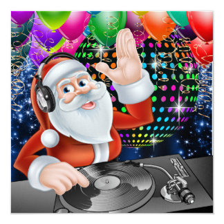 Santa DJ Disco Christmas / New Year Invitation