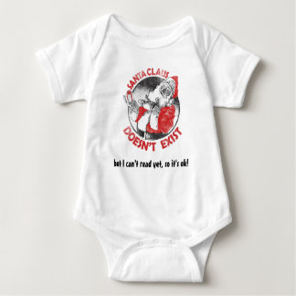 Santa Doesn't Exist - but I can't read yet ... Baby Bodysuit