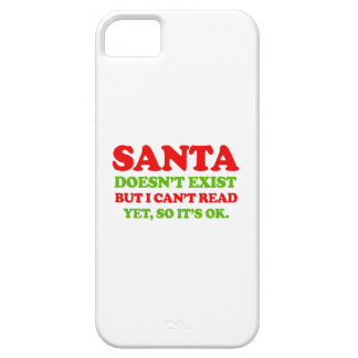 Santa doesn't exist -- Holiday Humor iPhone 5 Case