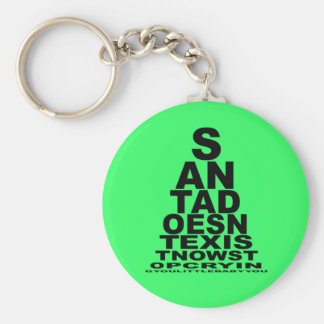 Santa doesn't exist keychain