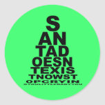 Santa doesn't exist stickers