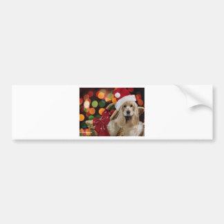 Santa Dog Bumper Sticker