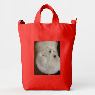 Santa Dog Customizable Red Bag @ EZaZZleMan.com