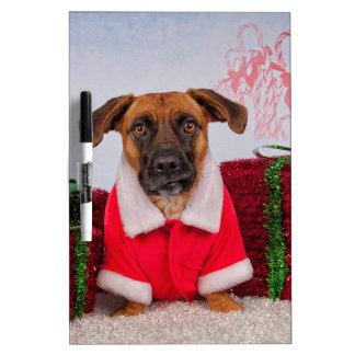 Santa dog Dry-Erase board
